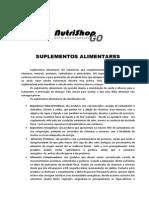 Informativo 01 - Suplementos Alimentares