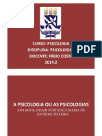 A Psicologia Ou as Psicologias (Slides)2