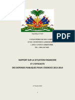 Rapport de la Cour Superieure des Comptes, Haiti Etat d'Urgence Economique