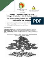 Cooperazione globale tra enti locali riflessioni dal Senegal 7 dic ore 21