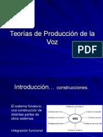 Teorías de Producción de La Voz