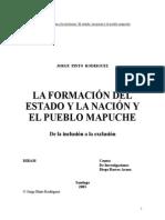 La Formacion Del Estado y La Nacion y El Pueblo Mapuche