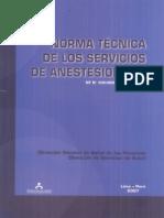 Norma Técnica de Los Servicios de Anestesiología NT Nº.030-MINSADGSP-V.01 2007
