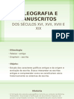 Paleografia e Manuscritos
