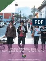 Politica de Genero Santa Tecla, El Salvador