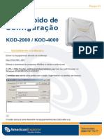 Guia Rapido de Configuração - Kod 2000 Ou 4000