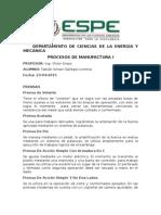 Herramientas para procesos de manufctura