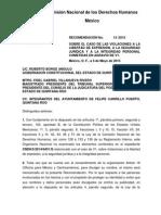Recomendación CNDH Pedro Canche