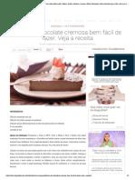 Torta de Chocolate Cremosa