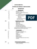 Catalogo Etapas Verticales Costo Directo