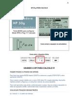 Como Usar a HP-50g Para Calculo