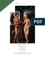 Lucas Cranach adán y eva