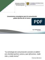 Lineamientos Estratégicos Para La Comunicación Global Efectiva de Mi Marca - Ricardo Bravo