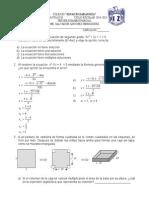 Examen de Tercero de Matematicas