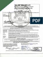 klingshirn teachers certificate