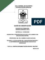 GUION TELETON, 2DO SEMESTRE 2D PARCIAL 3RA SALIDA, 1RA TELETÓN