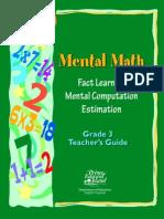 Mental Math Grade 3 Workbook