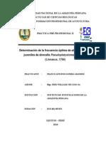 FRECUENCIA DE ALIMENTACIÓN EN DONCELLA Pseudoplatystoma fasciatum