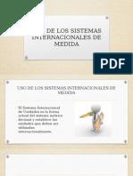Uso de Los Sistemas Internacionales de Medida