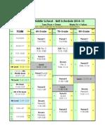 bell schedule 14-15