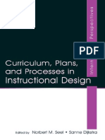 (1) Curriculum Plan, And Prosess in Instructional Design
