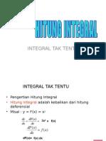 Integral Tak Tentu Dan Tentu
