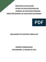 Reglamento de Gestion Curricular