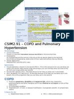 CSIM2.91 – COPD and Pulmonary Hypertension