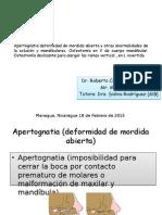 Apertognatia (Deformidad de Mordida Abierta)