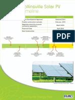 5 Collinsville Solar PV Timeline