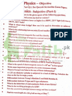 Physics 12th Class Guess Paper 2015