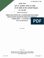 Is 14496#2 Preparation of Landslide Hazard Zonation Maps in