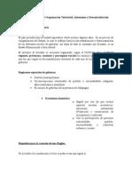 Análisis del Código Orgánico de Organización Territorial, Autonomía y Descentralización (COOTAD). Ecuador