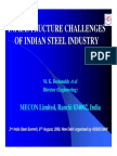 Infrastructure Challenges of Indian Steel Industry