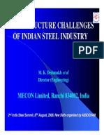 Infrastructure Challenges of Indian Steel Industry