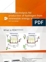 PEM Electrolysis for Production of Hydrogen From Renewable