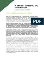 Programa Marco Municipal de Vox Para Toda España