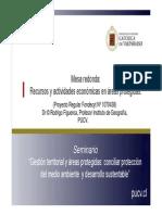 Recursos y actividades económicas en áreas protegidas
