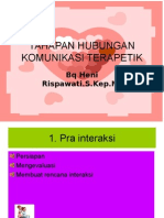 Tahapan Hub. Komunikasi Terapeutik