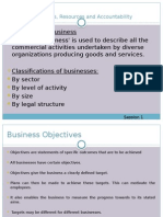 Business Objectives Resources and Accountability