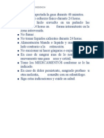 Indicaciones Post Exodoncia