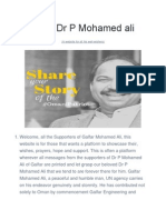 Support Dr P Mohamed ali (a website for all his well-wishers)