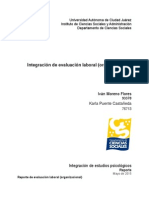 Ejemplo de Integración de Evaluación Psicológica Organizacional