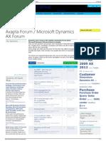 Axapta Forum - Microsoft Dynamics AX Forum - Dynamics User G