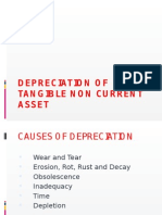 Depreciation of Tangible Non Current Asset