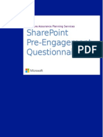 SharePoint 2013 Pre-Engagement Questionnaire
