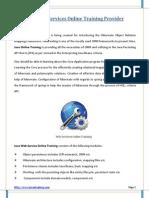 Java Web Services Online Training - PDF