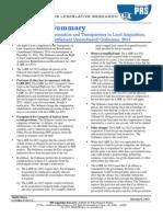 Ordinance Summary-Land Acquisition