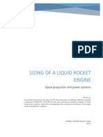 sizing of a liquid rocket engine