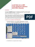 Database Restore Guide